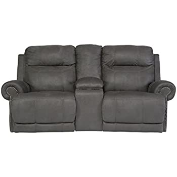 Ashley Furniture Signature Design - Austere Recliner Loveseat with Console - Pull Tab Manual Reclining -  sc 1 st  Amazon.com & Amazon.com: Ashley Furniture Signature Design - Rotation Recliner ... islam-shia.org