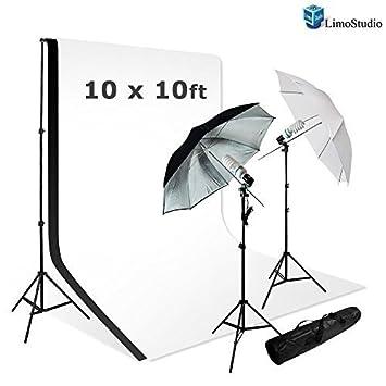 LimoStudio Photo Studio Lighting Kit Set u0026 10X10 White Black Muslin Backdrop Background Carrying Case  sc 1 st  Amazon.com & Amazon.com : LimoStudio Photo Studio Lighting Kit Set u0026 10X10 ... azcodes.com
