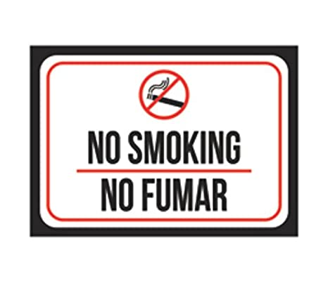 photograph about Printable No Smoking Signs known as : No Using tobacco No Fumar Print Black Purple White
