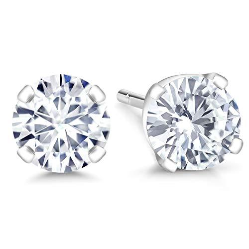 Vs1 Earring (IGI Certified 14K White Gold Lab-Grown Created Diamond Stud Earrings (0.90 Cttw, G-H Color, VS1-VS2 Clarity))