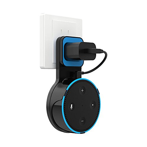 H.VIEW Echo Dot Wall Mount Hanger Stand Holder for Dot 2nd Generation, A Space-Saving Solution for Your Smart Home Speakers Without Messy Wires or Screws Full Protection Easy Mount Home Accessories