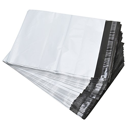SJPACK Poly Mailers 10x13-inch 100 Bags 2.5 Mil Poly Mailers Envelopes Bags with Self-Sealing Strip White Poly -