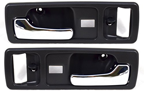 PT Auto Warehouse HO-2380MG-FP - Inside Interior Inner Door Handle, Gray/Chrome Lever - Front Left/Right Pair (1993 Honda Accord Right Door)