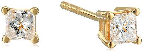 ncess Diamond 4-Prong Studs (1/4 cttw, H-I Color, SI1-SI2 Clarity) (Earrings Si1 Clarity Diamonds)