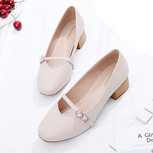 gran metri asolato quadrata pelle numero a calzatura spesso grandi nonna con con di codice 41 40 Testa unica calzature 43 donna un in semi tirante biancastro donna scarpe B6qwnCdAx