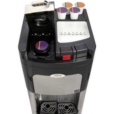 Coffee Maker And Water Dispenser : Glacial Single Cup Coffee Maker and Bottom Loading Water Cooler Stainless Steel Water Dispenser ...