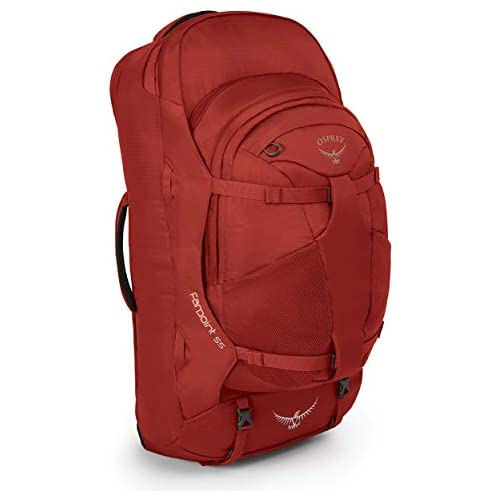 chollos oferta descuentos barato Osprey Farpoint 55 Mochila de Viaje Hombre Rojo Jasper Red S M