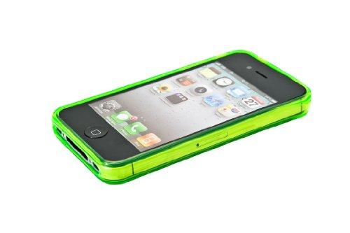 Luxburg® Diamond Design Schutzhülle für Apple iPhone 4S / 4 in Farbe Smaragd Grün, Hülle Case aus TPU Silikon