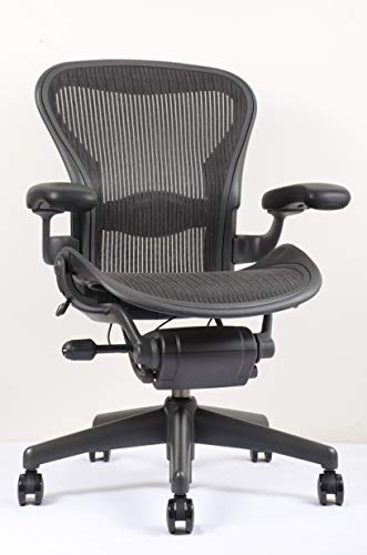 Herman Miller Classic Aeron Chair - Fully Adjustable, Carpet Casters, Size B (Open Box) (Chairs Classic)