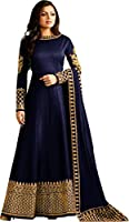 MRS WOMEN Women's Embroidered Semi-Stitched Gown for women