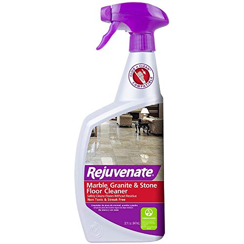 - Rejuvenate Marble Granite and Stone Floor Cleaner - Instantly Removes Dirt and Grime - Non-Toxic Streak Free Shine - 32 oz.