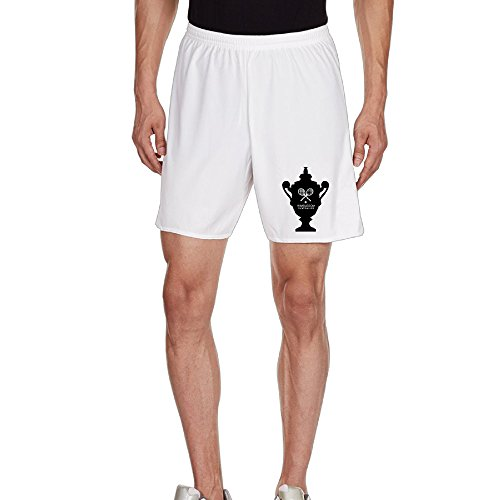 Kim Men's Casual Shorts Household Pants For Men's Size M White