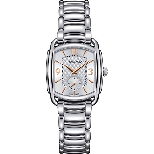 Hamilton H12451155 Bagley Women Watch - Silver Dial Stainless Steel Case Quartz Movemen