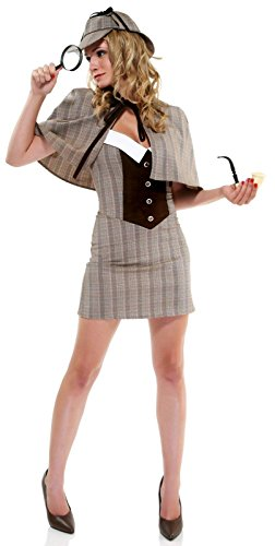 [Forplay Women's Private Eye Costume Set, Brown, X-Small/Small] (Sherlock Holmes Costume)