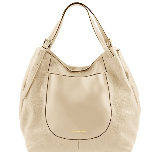 81415154 - TUSCANY LEATHER: CINZIA - Sac shopping en cuir souple, Beige