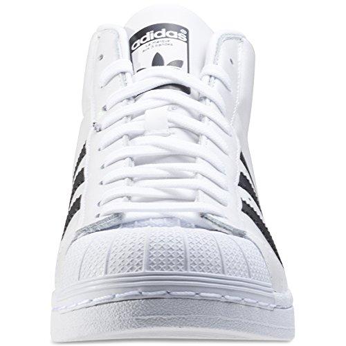 Adidas Originali Superstar Po Modello Schuh S75851, 39 1/3, Bianco / Nero