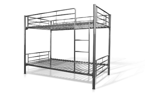 American Furniture Alliance Locker Twin Over Twin Bunk Bed