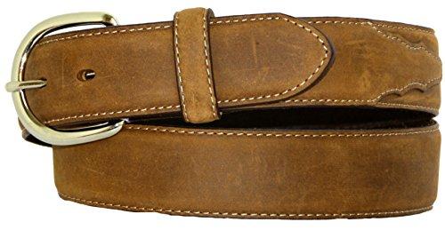Silvercreek Men's Basic Western Leather Belt Brown 34