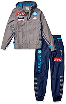 Ssc Napoli Italian Serie A Mens Representation Microfibre Tracksuit with Hood 2019/2020