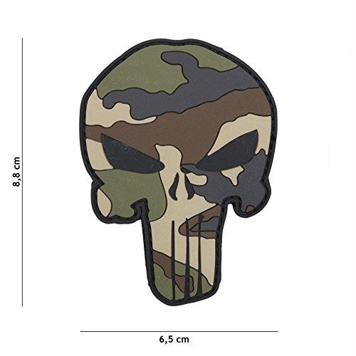Tactical Attack Punisher Camouflage Softair Camo Sniper PVC Patch Logo Klett inkl gegenseite zum aufnä hen Paintball Airsoft Abzeichen Fun Outdoor Freizeit Apps Folien Design