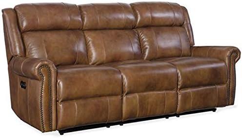 Amazon.com: Hooker Furniture Esme Leather Power Motion Sofa ...