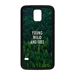 Customized Cell Phone Case Cover for SamSung Galaxy S5 I9600 with DIY Design Young, wild & free