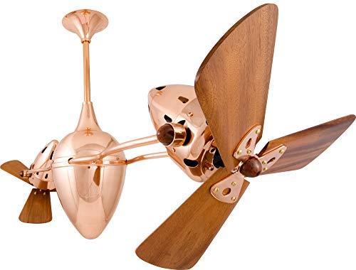 Matthews Fan Company AR-CP-WD 48'' Rotational Ceiling - Ceiling Fan Polished Matthews Copper