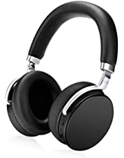 U-ROK Active Noise Cancelling Bluetooth Headphones Wrieless Earphones Over Ear Foldable Headset with Powerful Bass (40mm Drivers, 24 Hours Playtime, CVC 6.0 Noise-Cancelling Built-in Mic, aptX)