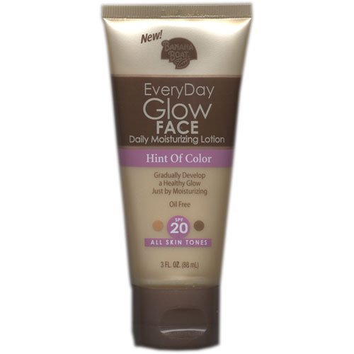 Banana Boat Everyday Glow Face Daily Moisturizing Lotion, Hint of Color, All Skin Tones, SPF 20, 3 Oz.