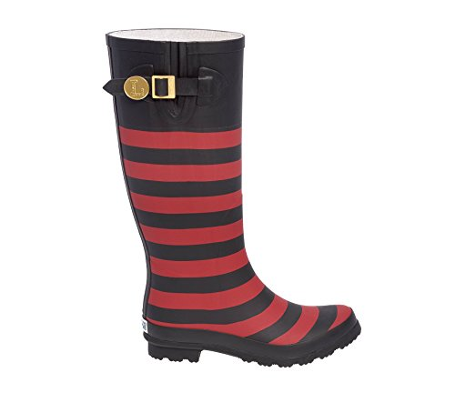 Initial and U Lillybee Black V Red Rainboots 7UpFq