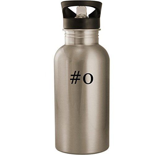 #o - Stainless Steel Hashtag 20oz Road Ready Water Bottle, Silver