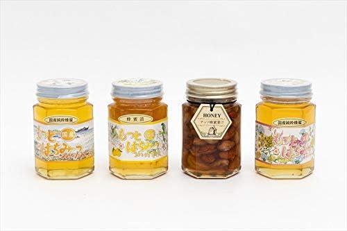 【国産純粋ハチミツ・養蜂園直送】みかん蜂蜜 百花蜂蜜 柚子蜂蜜漬 各180g ナッツ蜂蜜漬 160g