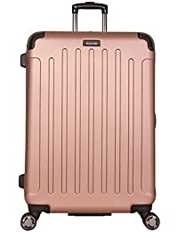 "Renegade 28"" Hardside Expandable 8-Wheel Spinner Checked Luggage, Rose Gold"