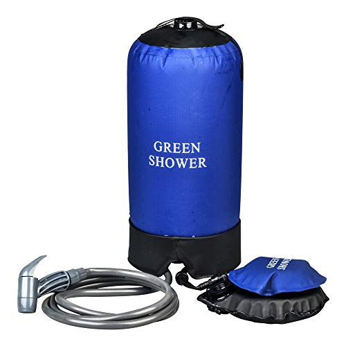 Dr. Prepare Portable Outdoor Shower Bag, 24L Camping Hiking Pack with Foot Pump and Press-Type Shower Nozzle for Backpacking Travel by Dr. Prepare