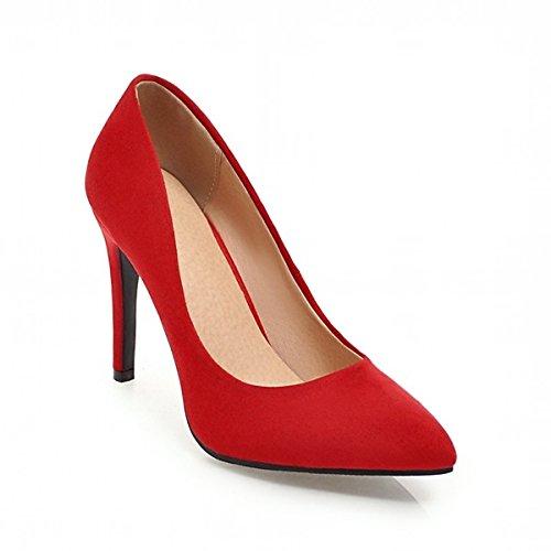 Rosa Primavera DIMAOL Abbigliamento di da Beige Comfort per di Rosso in Similpelle Heel Novità Rosso Donna Tacchi Stiletto Scarpe Caduta Punta Casual Nero fCw8qU
