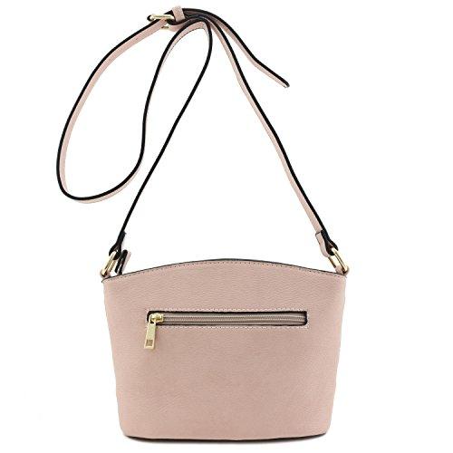 Classic Bag Crossbody Double Dusty Small Zip Pink rqxBrawZR