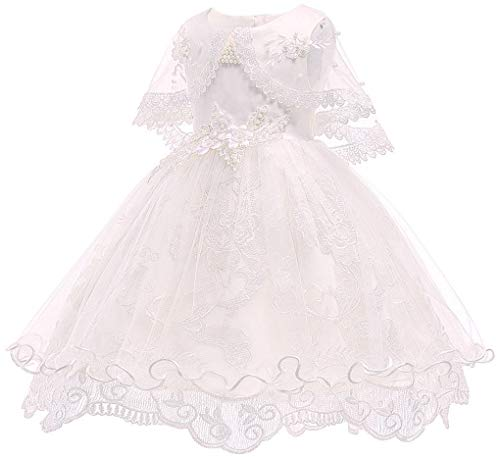Toddler Baby Girls Beaded Christing Pageant Birthday Party Baptismal -