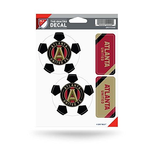 Die Cut United Decal (Rico Industries MLS Atlanta United FC The Quatro Decal)