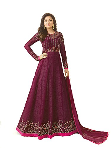 ziya Designer Ready Made Indian Fashion Anarkali Salwar Kameez Party Wear LT NITYA2 (Dark Pink, M-40)