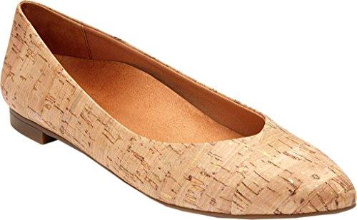 Gemma femminile Caballo Ballet Flat Gold Cork Formato 10