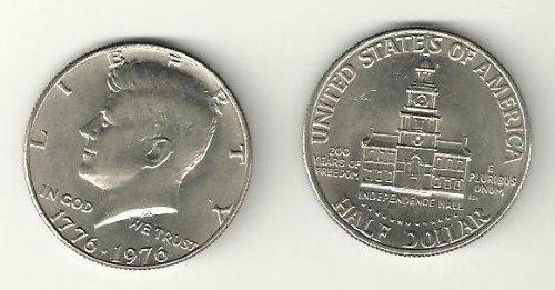 Kennedy Bicentennial Half Dollar 1776-1976 P