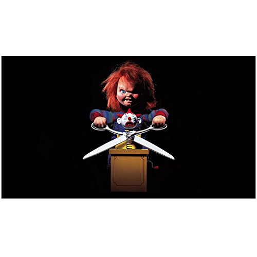 Chucky holding scissors to a Jack in the Box 8 x 10 Inch Photo