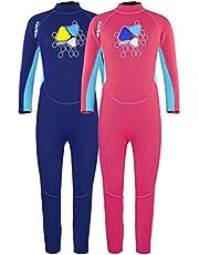 LayaTone Wetsuit Kids 2mm Neoprene Suit Scuba Surf Kayak Suit Boy Girl - Full Body Suit Kids One Piece Swimsuit Rash Guard UV Protection Full Diving Suit