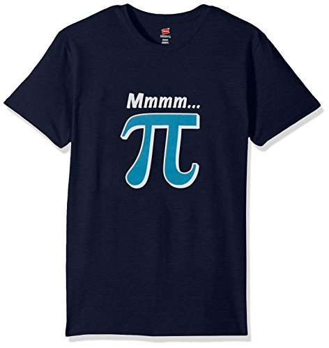 Hanes Men's Humor Graphic T-Shirt, Navy/PI Lover, Large (T-shirt Tee Navy)