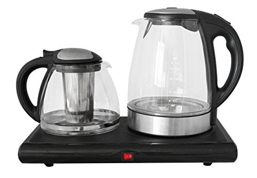 GOLDA INC. Glass Tea Maker, Electric Kettle, Tea Tray Set … (Electric Tea Kettle With Tray)