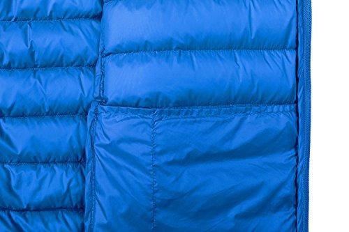 Capucha con Hombre Ligera Plumas Azul Zafiro para Chaqueta Wantdo de x6nIqAXUq