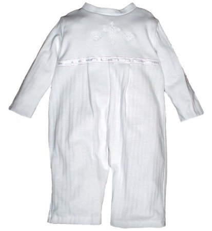 Raindrops 4660118 Raindrops Opal Christening Party Boy Long Sleeve Coverall, size 12-18 mo.