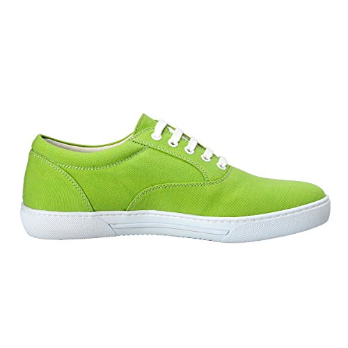 Uomo Canvas Sneakers Moda Leather Versace Scarpe Us Verde Collection 4q75O