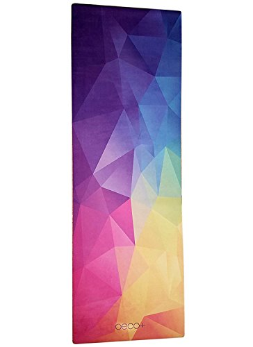 Oeco Plus Printed 1.5mm Yoga Mat, Prana Yoga Mat, Bikram Yoga Mat – Incredibly Comfortable Yoga Mats for Men and Women - Gorgeous Microfiber Printed Designs by Oeco Plus