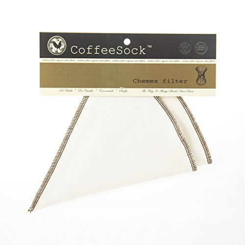 Coffeesock Resuable Filters for Chemex 3-cup - Certified Organic Cotton by CoffeeSock